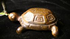 Advertising Lawrence Gas Stoves Cast Iron Turtle Paperweight  #271
