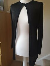 Black Glitter Metallic Cardigan From Marks and Spencer Size 8