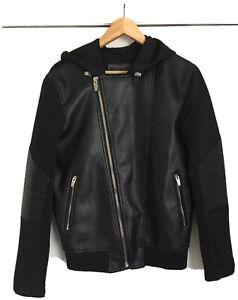 Zara Leather Biker Jacket Ribbed Baseball Hoodie Jumper Jeans Trapstar Aviator