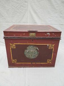 "Antique (1849) English ""Milner's Portable Fire Resist Patent 212"" Box"