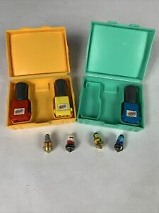 Spinjas Arena TEAL & YELLOW - Scorcher Blowtorch Gash Mangle TOMY 1987 - *WORKS*
