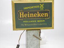 Vintage Heineken flouescent lamp