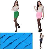 Womens Mini Skirt Slim Seamless Stretch OL Tight Dress Short Fitted Boycon Dress