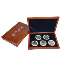 Oak Wood Coin Display Case Box Storage Slab Collectible Container 51mm Holder