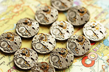 a lot of 50 Russian women's watch movements 20 mm steampunk art parts DIY