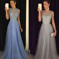 Formal Wedding Bridesmaid Women Party Ball Prom Evening Gown Long Cocktail Dress