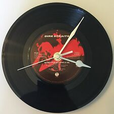 DIRE STRAITS Clock Vintage Original 7inch Record FATHERS DAY BIRTHDAY GIFT