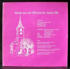 Mozart Missa brevis Aesch Hunkeler Jenny-Schlienger Pellmont LP NM, CV EX