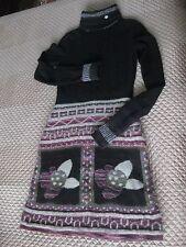 Chanel Dress Black Multi Moscow Runway Size 38 Wool Angora