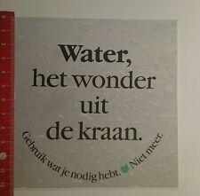 Aufkleber/Sticker: Water het Wonder uit de kraan (100117157)
