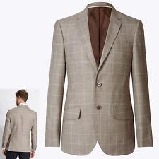 NUOVO M&S Regular Fit lana Rich Blazer ~ Taglia 42 MED ~ BISCOTTO (prezzo consigliato £ 99)