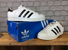 low priced 53e4b 3ee2e ADIDAS ORIGINALS UK 5.5 EU 38 2 3 WHITE BLACK SUPERSTAR TRAINERS MENS LADIES