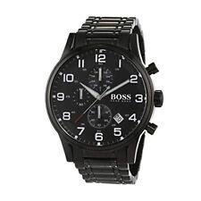 3495942a9 Hugo Boss 1513180 Aeroliner Black Dial Stainless Steel Chronograph Men's  Watch