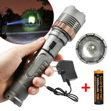 Rechargeable 200000LM Camping LED Flashlight T6 Tactical Police Torch+Batt+Char