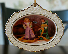DISNEY STORE RAPUNZEL & FLYNN DESIGNER ORNAMENT LE 300 New TANGLED Ceramic