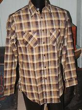 Vintage SANFORIZED Value Line Cotton Flannel Plaid SHIRT  Sz M Tall  Never Worn