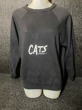 Cats Musical Broadway Shoe 1981 Crewneck Sweater Sz M Womens Black Vintage