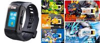 Digimon Vital Bracelet ver. Black with 5 Dim Cards Impu, Agu, Gabu, volc, bliz