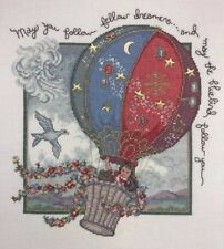 """Follow Your Dream Finished Cross Stitch Picture 18x18"""" Elsa Williams 02132 Hot"""
