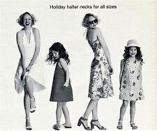 Señoras vestido de cuello halter 10 12 14 16 18 20 & Chicas 2 4 6 8 prima patrón de costura