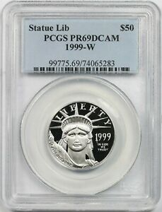 1999-W Platinum Eagle $50 PCGS PR 69 DCAM Half-Ounce 1/2 oz Platinum .9995