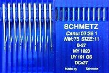 SCHMETZ B-27 DCX27 UY191GS SIZE75/11 INDUSTRIAL OVERLOCKER SEWING MACHINE NEEDLE