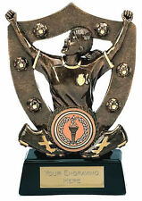 """6 x 5 1/2"""" Female Football Trophies (RRP £7.99 each) engraved and postage free"""