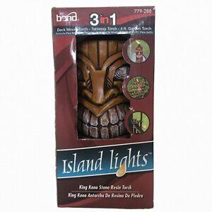 Bond ISLAND LIGHTS 3 In 1 King Kona Stone Resin Torch Set 779-288
