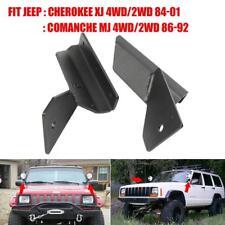 "4"" Lower Windshield LED Light Bar Mount Bracket for Jeep Cherokee XJ Comanche MJ"