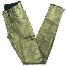 J Brand Women's Metallic Coated Mid-Rise Skinny Jeans