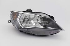 Seat Ibiza 12-15 Grey Headlight Headlamp Right Driver Off Side O/S OEM Valeo