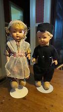 """Vintage Genuine ROZETTA DOLLS PAIR, Amsterdam, Holland, Boy & Girl, 10"""""""