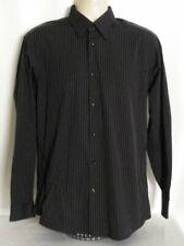 Ben Sherman Button Down Dress Shirt Black Stripe Size Medium 15.5-34/35