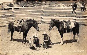 H40/ Bozeman Montana RPPC Postcard c30s Wrangler Karst Ranch Cowboy Cowgirl 2