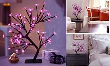 """18"""" LED Cherry Blossom Tree Light W Timer Battery Operated Lighted Flower Table"""