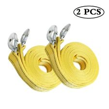 8 Tons 20Ft Car Tow Rope Cable Towing Strap Emergency 2-Layer Heavy Duty 2 Pack