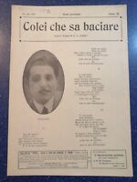 Spartito COLEI CHE SA BACIARE in foto Andrè versi musica edizioni E.A.Mario 1918