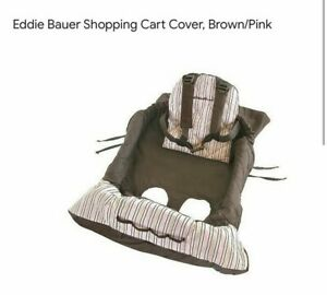 Eddie Bauer Shopping Cart / Buggy Cover  Pink brown Stripes  - Great Condition