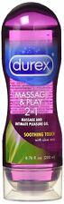 Durex Massage & Play 2 in 1 Lubricant Soothing Touch w/Aloe Vera 6.76 oz