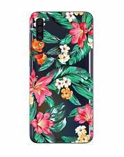 Samsung A50 - Coque gel souple solide  avec motifs de qualité ( Fleurs )