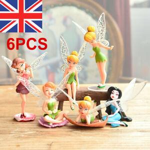 6Pcs Dollhouse Pixie Garden Ornament Figurine Decor Fairy Flower Miniature UK