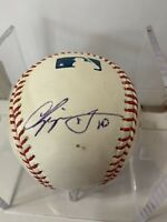 Chipper Jones MLB Autographed Baseball W/ Unknown Braves Autograph (Selig Ball)