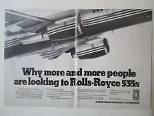 11/1983 PUB ROLLS-ROYCE RB211-535 ENGINES BOEING 757 AIRLINER ORIGINAL AD