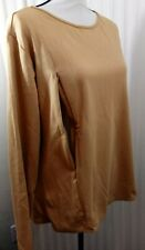 Breastfeeding Nursing Long Sleeve Tee Gold Petite S Long Sleeve Stretch Cotton