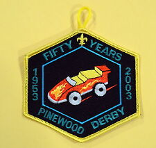 1953 - 2003 Fifty Years Pinewood Derby Boy Cub Scout Patch