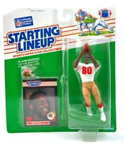 NEW NOS 1989 NFL Jerry Rice Starting Lineup With Card & Mini Helmet Kenner F4