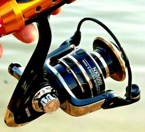 Black Spinning Fishing Reel Roller Coil Wheel Metal Spool 13 BB Front Rear Drag