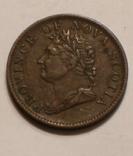 1832 Half Penny Token Province of Nova Scotia CANADA sharp FULL DETAIL