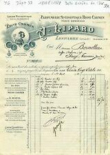 Dépt 33 & 75 - Lesparre - Belle Entête Parfumerie Antiseptique du 18/081928