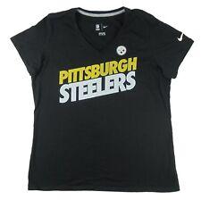 Nike - NWT Licensed Pittsburgh Steelers Black V-Neck T-Shirt - Women's L, 2XL
